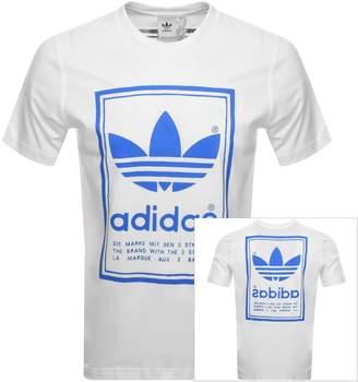adidas Vintage T Shirt White