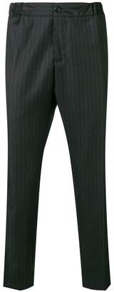 Costumein pinstripe tapered trousers