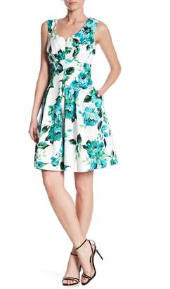 Gabby Skye Sleeveless Floral Fit & Flare Dress