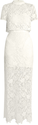 Marcela guipure-lace gown