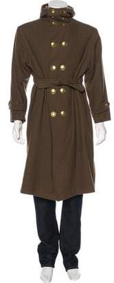 Y's Yohji Yamamoto Wool-Blend Double-Breasted Coat