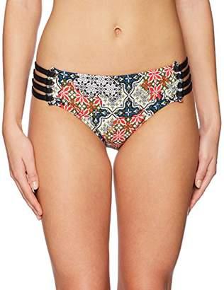 Jantzen Women's Sport Patchwork Tiles Strappy Side Bikini Bottom Swimsuit