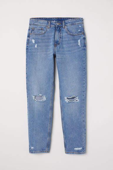 H&M - Boyfriend Low Ripped Jeans - Blue