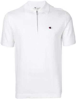 Paolo Pecora Champion x zipped neck polo shirt
