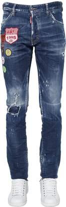 DSQUARED2 16.5cm Cool Guy Patch Cotton Denim Jeans