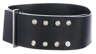 Versus Logo-Accented Leather Belt
