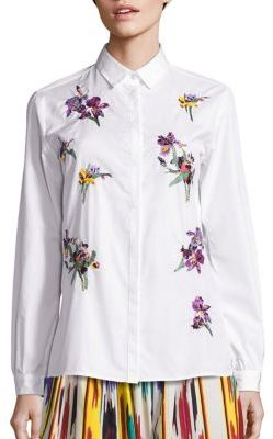 EtroEtro Embroidered Button Front Top