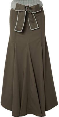 Silvia Tcherassi Abate Belted Stretch-cotton Skirt