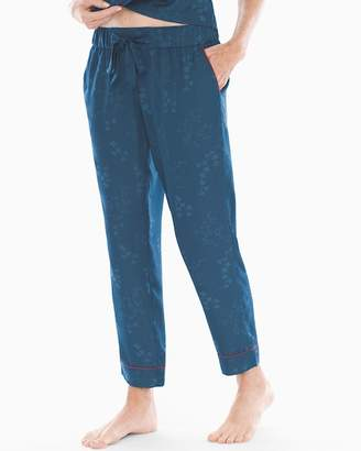Satin Jacquard Ankle Pajama Pants