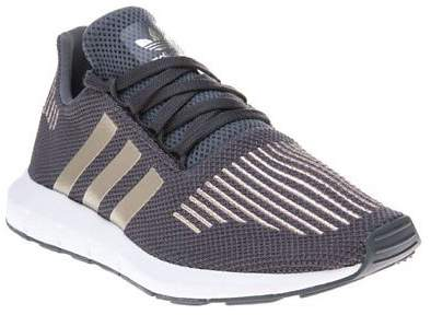 New Boys Grey Swift Run Textile Trainers Running Style Lace Up