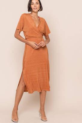 ALL IN FAVOR Crossover Midi Dress