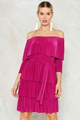 Nasty Gal Good to Have You Tier Ruffle Dress