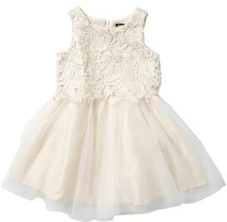 0690bedf62bd ... Zunie Glazed Lace   Tulle Dress (Little Girls)
