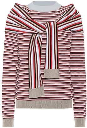 Isa Arfen Striped cotton sweater