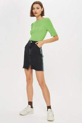 Topshop Side Stripe Midi Skirt