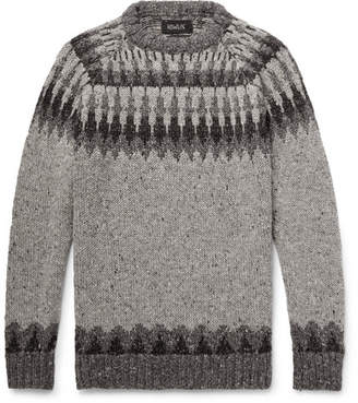 Howlin' Before The Snowfall Fair Isle Donegal Wool And Mohair-Blend Sweater