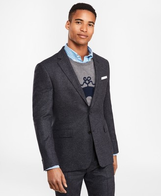 Brooks Brothers Two-Button Tic Twill Suit Jacket