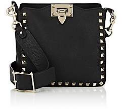 Valentino Women's Rockstud Mini Leather Hobo Bag - Black