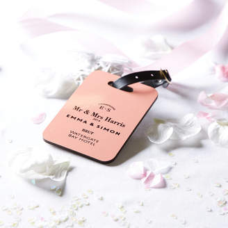 coconutgrass Personalised Couple / Wedding Luggage Tag