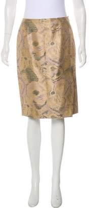 Christian Lacroix Printed Knee-Length Skirt