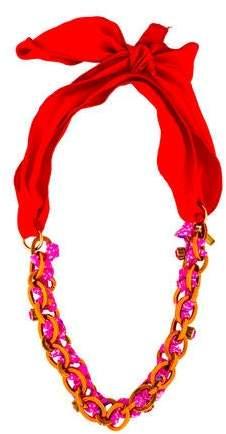 Nina Ricci Single Strand Ribbon Necklace