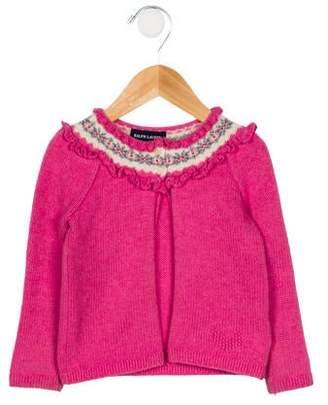 Ralph Lauren Girls' Intarsia Wool-Blend Cardigan