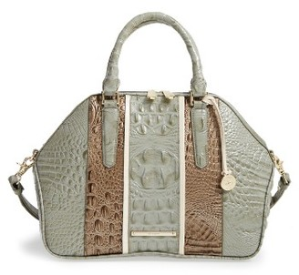 Brahmin Tarama Hudson Leather Satchel - Green $385 thestylecure.com