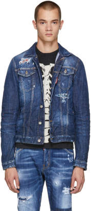 DSQUARED2 Blue Contrast Denim Jacket