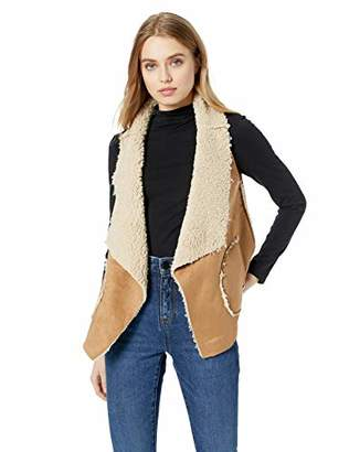 BB Dakota Junior's Easily Reversible Faux Suede and Sherpa Vest