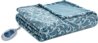 "Simmons Adelynn Oversized 60"" x 70"" Heated Plush Throw Bedding"