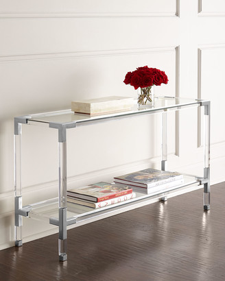 Jonathan Adler Jacques Acrylic & Nickel Console