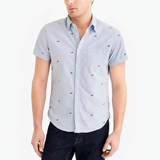J.Crew Mercantile Slim short-sleeve printed oxford shirt