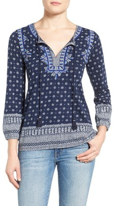 Women's Lucky Brand Embroidered Boho Top $69.50 thestylecure.com