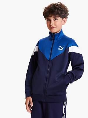 Puma Boys' Track Jacket, Peacoat