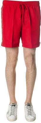 Calvin Klein Red Medium Swim Shorts In Fabric