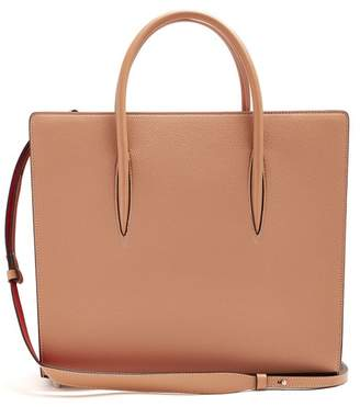 Christian Louboutin Paloma Large Leather Tote - Womens - Nude