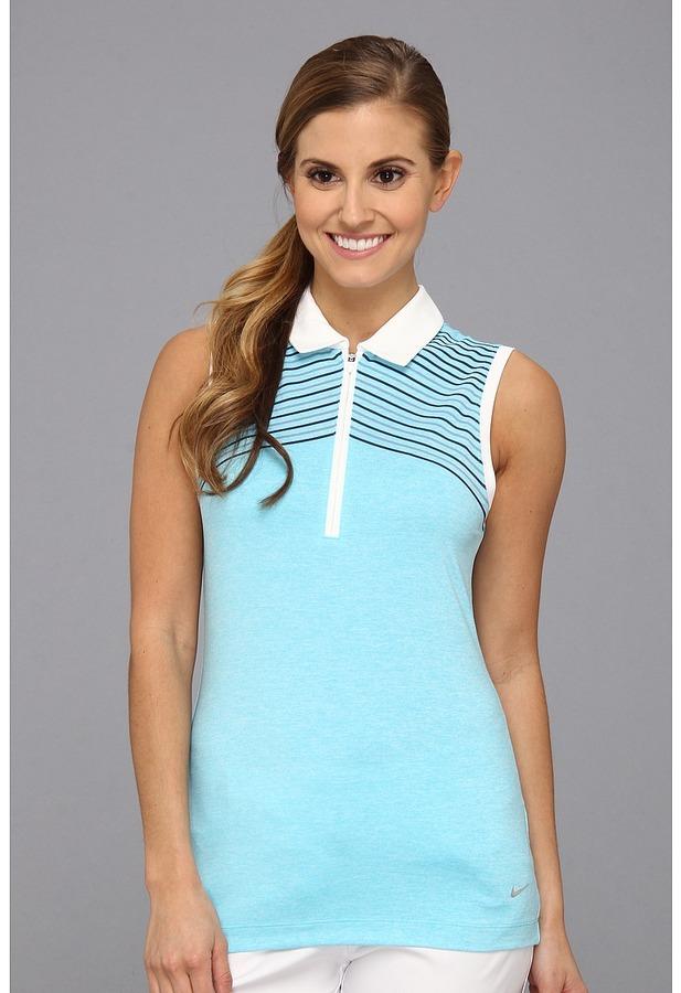 Nike Heather Graphic Sleeveless (Gamma Blue) - Apparel