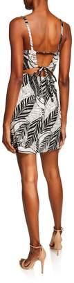 Astr Heidi Tropical Fern Cutout A-Line Dress