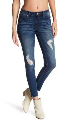 Vigoss High Rise Undone Hem Skinny Leg Jeans