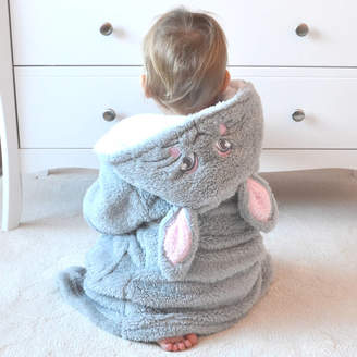 DCaro Personalised Bunny Grey Kids Dressing Gown