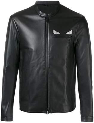 Fendi 'Metal eye' leather jacket