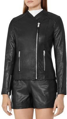 REISS Rivington Leather Jacket $695 thestylecure.com