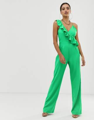 PrettyLittleThing Frill Detail Jumpsuit