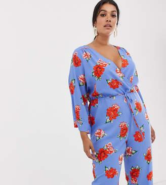 ba276cc71a7 Fashion Union Plus wide leg jumpsuit in floral