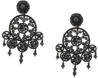 Free Shipping At Farfetch Oscar De La A Beaded Dreamcatcher Earrings