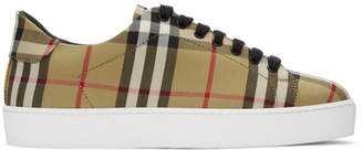 Burberry Beige Vintage Check Westford Sneakers