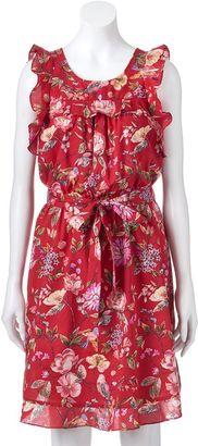 Women's LC Lauren Conrad Floral Ruffle Fit & Flare Dress $64 thestylecure.com
