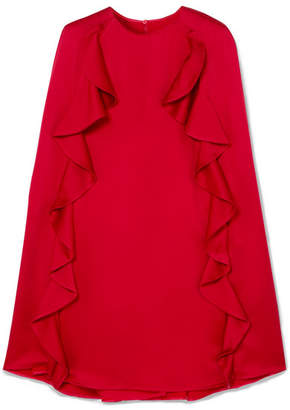 Valentino Ruffle-trimmed Crepe Mini Dress - Red