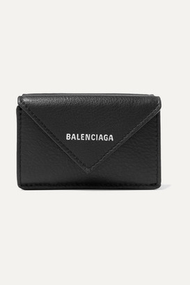 Balenciaga Paper Mini Printed Textured-leather Wallet - Black