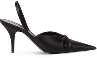 Balenciaga Knife Satin Slingback Pumps - Black